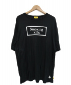FR2(エフアールツー)の古着「Smoking killsプリントTシャツ」 ブラック