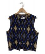 Engineered Garments(エンジニアードガーメンツ)の古着「Vネックウールベスト」|ブラウン×ブルー