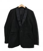 RALPH LAUREN BlackLabel(ラルフローレンブラックレーベル)の古着「ナローラペルデニムテーラードジャケット」|ブラック