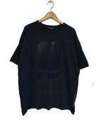 UNDER COVER(アンダーカバー)の古着「UロゴプリントTシャツ」 ネイビー