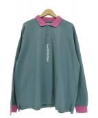 FLAGSTUFF(フラッグスタッフ)の古着「ロングスリーブポロシャツ」|ネイビー×ピンク