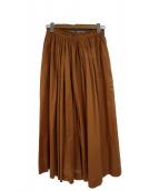 MACPHEE(マカフィ)の古着「ロングスカート」|ブラウン