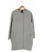 Demi-Luxe BEAMS(デミルクスビームス)の古着「カシミヤ混ウールノーカラーコクーンコート」|グレー