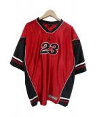 JORDAN(ジョーダン)の古着「ナンバリングゲームシャツ」|レッド×ブラック