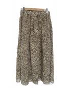 SLOBE IENA(イエナスローブ)の古着「レオパード柄ロングスカート」|ベージュ