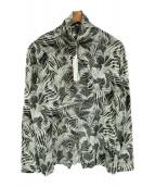LEMAIRE(ルメール)の古着「トロピカルマーブルハイネックジップシャツ」|ライトグレー