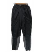 C.E(シーイー)の古着「カラー切替サーモライト中綿テーパードトラックパンツ」|ブラック