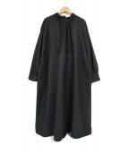 Conges payes(コンジェ ペイエ)の古着「ウール混リボンタイワンピース」|ブラック