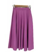 UNITED ARROWS(ユナイテッドアローズ)の古着「サーキュラーロングスカート」|パープル