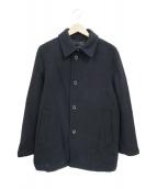 MACKINTOSH LONDON(マッキントッシュ ロンドン)の古着「メルトンシグルPコート」|ブラック