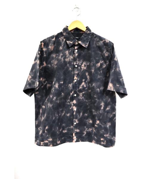 DIESEL(ディーゼル)DIESEL (ディーゼル) バック刺繍総柄半袖シャツ ブラック サイズ:L 未使用品の古着・服飾アイテム