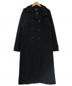 LONDON FOG(ロンドンフォッグ)の古着「ウールチェックライナー付ロングトレンチコート」 ブラック