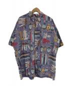reyn spooner(レインスプーナー)の古着「90's魚柄アロハシャツ」|ネイビー