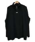 MYNE(マイン)の古着「ハーフジップ長袖カットソー」|ブラック
