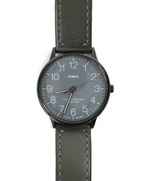 TIMEX(タイメックス)TIMEX (タイメックス) 腕時計 グレー サイズ:下記参照 the waterbury TW2P96000 動作確認済み レザー CR2016の古着・服飾アイテム