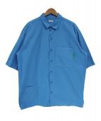 WILLY CHAVARRIA×WISM(ウィリーチャバリア×ウィズム)の古着「別注半袖ワークシャツ」 スカイブルー