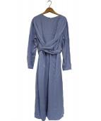 CELFORD(セルフォード)の古着「ストライプサテンワンピース」|ブルー