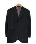 BURBERRY BLACK LABEL(バーバリーブラックレーベル)の古着「Super100sウィンドウペン3Bセットアップスー」|ブラック