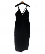 VERMEIL par iena(ヴェルメイユパーイエナ)の古着「モールドットジャンパースカート」 ブラック