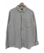Engineered Garments(エンジニアードガーメン)の古着「ドット柄比翼長袖シャツ」 グレー×ホワイト