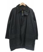 Barbour(バブアー)の古着「90sボーダーオイルドコート」|ネイビー