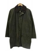 Barbour(バブアー)の古着「ボーダーオイルドコート」|オリーブ