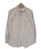 nestrobe confect(ネストローブ コンフェクト)の古着「コットンレギュラーカラーシャツ」 ベージュ