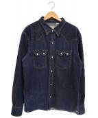THE FLAT HEAD(ザフラットヘッド)の古着「12oz50sデニムウエスタンシャツ」|インディゴ