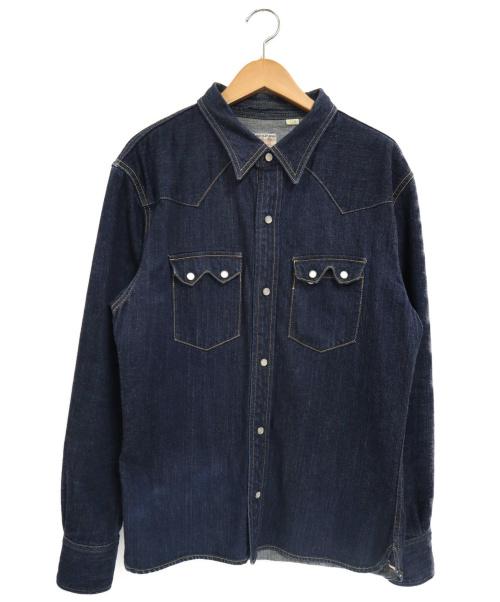 THE FLAT HEAD(ザ・フラットヘッド)THE FLAT HEAD (ザフラットヘッド) 12oz50sデニムウエスタンシャツ インディゴ サイズ:M 7002WRの古着・服飾アイテム