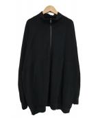 KAPTAIN SUNSHINE(キャプテン サンシャイン)の古着「ハーフッジップニット」|ブラック