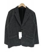 NO ID.(ノーアイディー)の古着「シャギージャージーノッチドラペル2Bテーラードジャケット」|グレー