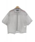 Vaporize(ヴェイパライズ)の古着「オーガンジーS/Sジップシャツ」 グレー