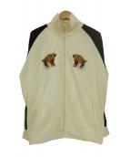 東洋エンタープライズ(トウヨウエンタープライズ)の古着「トラ刺繍トラックジャケット」|アイボリー
