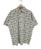 reyn spooner(レインスプーナー)の古着「プルオーバーアロハシャツ」|ベージュ×グリーン