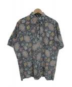 reyn spooner(レインスプーナー)の古着「プルオーバーアロハシャツ」|グレー