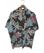 reyn spooner(レインスプーナー)の古着「プルオーバーアロハシャツ」|ブラック