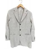 BEAMS F(ビームスエフ)の古着「ヘリンボーン3Bテーラードジャケット(ジレセット)」|グレー