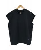 Needles(ニードルス)の古着「パピヨン刺繍カットオフスリーブスウェット」|ブラック