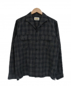 RUDE GALLERY BLACK REBEL(ルードギャラリー ブラックレーベル)の古着「イタリアンカラーシャツ」 ブラウン