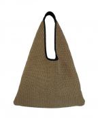 ARRON(アローン)の古着「パイピング三角トートカゴバッグ」 ベージュ×ブラック