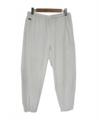 Supreme×LACOSTE(シュプリーム × ラコステ)の古着「ベロアトラックパンツ」|ホワイト