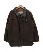 Barbour(バブアー)の古着「レザートリミングオイルドジャケット」|ブラウン