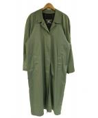 Burberrys(バーバリーズ)の古着「ステンカラーコート」 グリーン