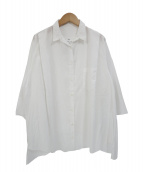LORENZINI(ロレンツィーニ)の古着「コットン変形シャツ」|ホワイト