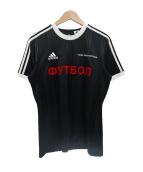 Gosha Rubchinskiy×adidas(ゴーシャ・ラブチンスキー×アディダス)の古着「コラボゲームシャツ」|ブラック