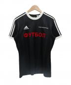 Gosha Rubchinskiy×adidas(ゴーシャラブチンスキー×アディダス)の古着「コラボゲームシャツ」|ブラック