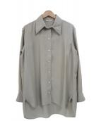 CELINE(セリーヌ)の古着「レーヨンロングスリーブロングシャツ」|グレー