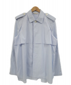 CELINE(セリーヌ)の古着「エポレット付オーバーサイズシャツジャケット」|ブルー