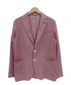 giannetto(ジャンネット)の古着「コットン2Bアンコンジャケット」|ピンク