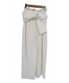 FRAY ID(フレイアイディー)の古着「ハイウエストリボンワイドパンツ」 ホワイト
